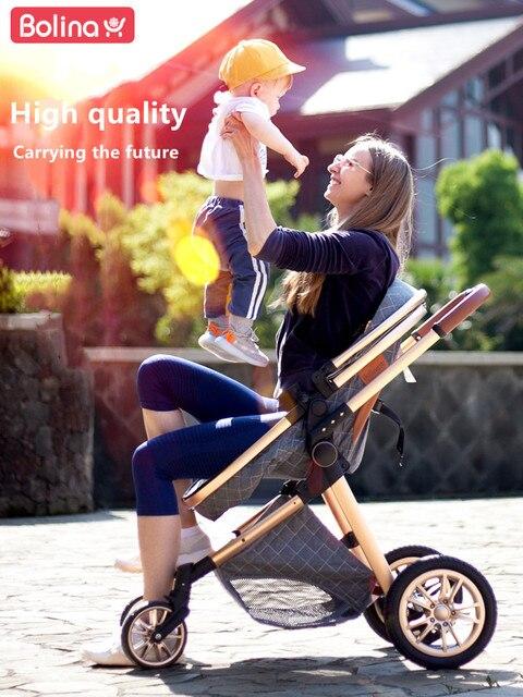 Bolina 3 em 1 carrinho de bebê alta paisagem luz carrinho de bebê recém-nascido choque prova em dois sentidos 2 em 1 criança carro conforto do bebê 2021 2