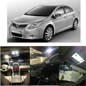 LED Interior Car Lights For Toyota avensis estate saloon t22 t25 t27 t25 hatchback verso m2 car accessories lamp bulb error free refresh hybrid wiper blades for toyota corolla wagon hatchback saloon verso fit hook arms