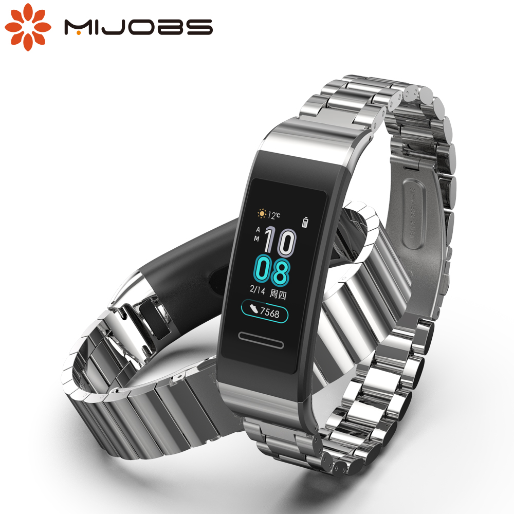 For Huawei Band 4 Pro Strap Wrist Bracelet For Huawei Band 3 Wristbands For Huawei Band 3 Pro Strap Metal Leather Accessories