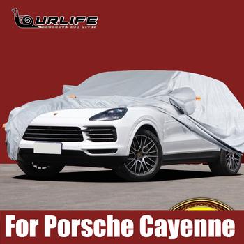 Pełne pokrowce samochodowe na zewnątrz słońce ochrona UV kurz deszcz śnieg Oxford tkaniny ochronne dla Porsche Cayenne 958 955 akcesoria tanie i dobre opinie ourlife CN (pochodzenie) 4 9m oxford cloth Pokrowce na samochód For Porsche Cayenne 958 955 1 7m