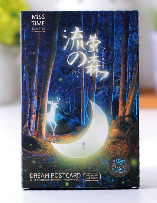 Light Forest Paper Postcard(1pack=30pieces)