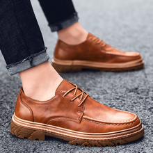 Fashion Lace-up Quality PU Leather Shoes Men Casual Comfortable Loafers Sneakers 2019 Spring Mens Flat %7703