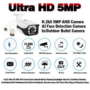 Image 2 - AI كشف الوجه H.265 5MP 4MP كاميرا AHD الأمن المراقبة بالفيديو 6 * صفيف في الهواء الطلق كاميرا مانعة لتسرب الماء لنظام AHD DVR