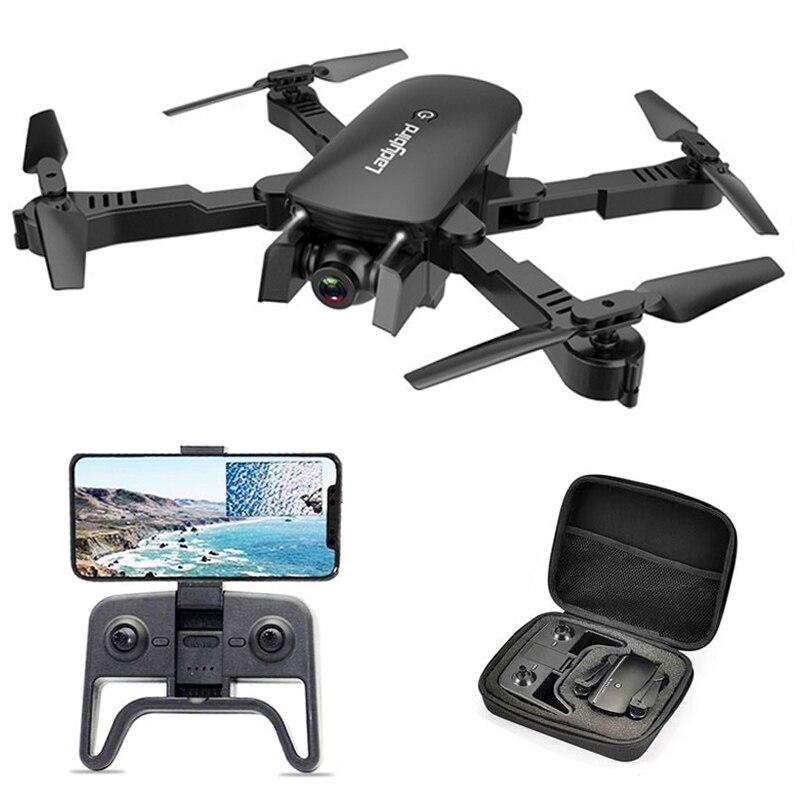 Zawód 4K podwójna kamera drona WIFI FPV kamera hd śledź mnie zdalnie sterowany quadcopter składany Selfie na żywo wideo wysokość trzymaj Auto powrót