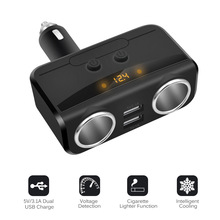 Cigarette Lighter One Tow Three Car Mobile Phone Multi-function Charger Quick Charge Head Two