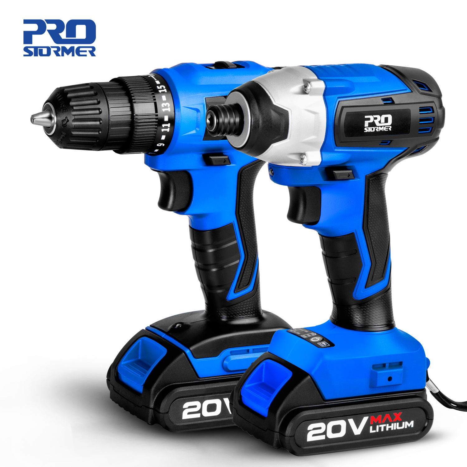 20V Cordless Impact Drill Cordless Screwdriver Optional Two-Piece Set 2000mAh Wireless Rechargeable Screwdriver By PROSTORMER