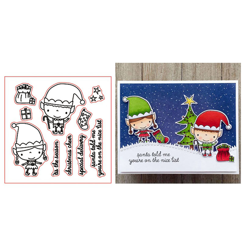 Christmas Transparent Silicone Clear Stamp Cling Diary Scrapbooking DIY Craft