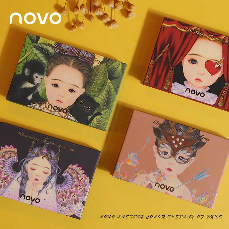 ใหม่ Charming INS ยอดนิยม Novo Elf 8 สีอายแชโดว์สี Earth Nude แต่งหน้า Brilliance แผ่นแต่งหน้า Glitter shimmer แต่งหน้าแป้ง