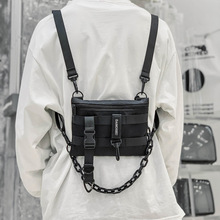 Adjustable Chest bag Vest Hip Hop Streetwear Crossbody bag F