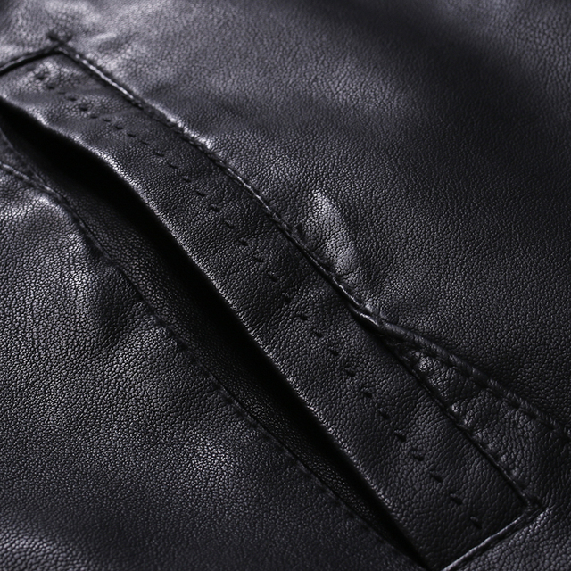 Men Faux Leather Jacket Motorcycle 5XL Men's  Jackets Black  Jaqueta De Couro Masculina Outwear Male PU Leather Coats Mens,ZA319 4