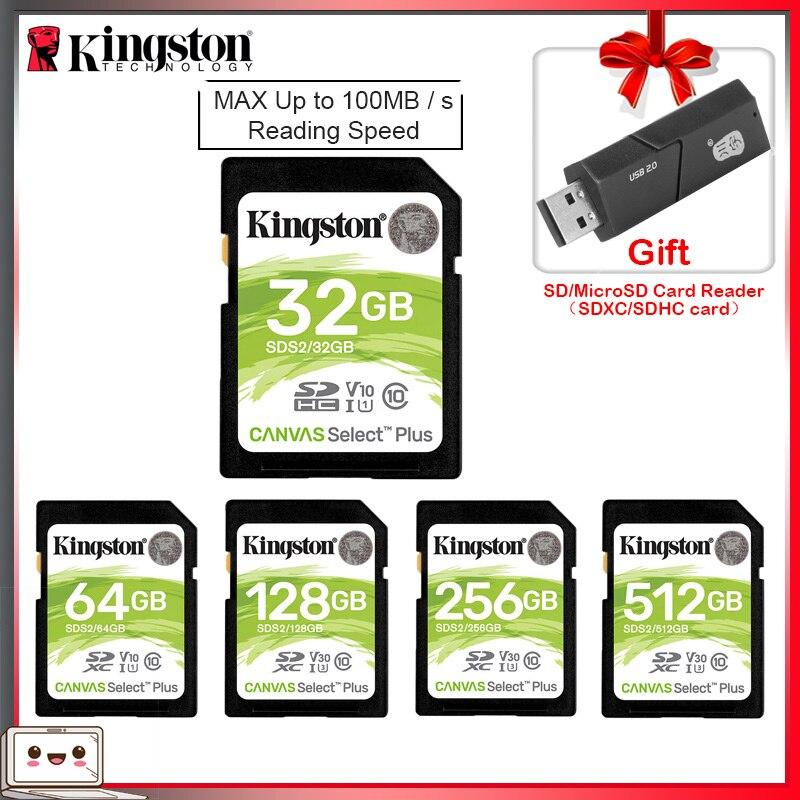 Kingston tarjeta SD 32 GB 64 GB 128 GB tarjeta de memoria cartao de memoria SDHC/SDXC Micro tarjeta SD 256GB para HD 1080p HD y 4K cámara de vídeo