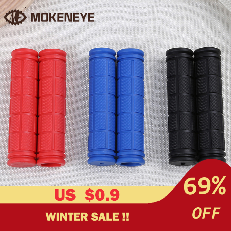 12 Cm Soft Rubber Bike Bicycle Handlebar Grips Cover MTB Road Mountain Anti-skid Bicycles Bar Grips Set Bicycle Handle Parts