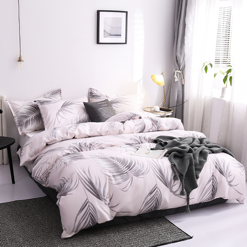 3/4pcs Bed linen set Home Textile Queen King nordic Duvets and linen sets comforter bedding set bed cover Quilt Cover Pillowcase