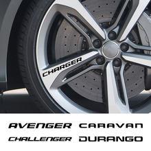 4 pçs aro da roda do carro adesivos para dodge avenger calibre caravan challenger carregador dardo durango viagem nitro ram auto acessórios