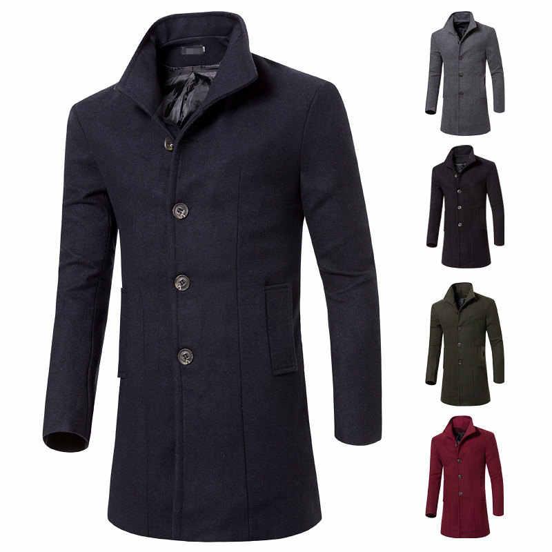 MRMT 2020 브랜드 남성 자켓 남성용 롱 트렌치 코트 자켓 겉옷