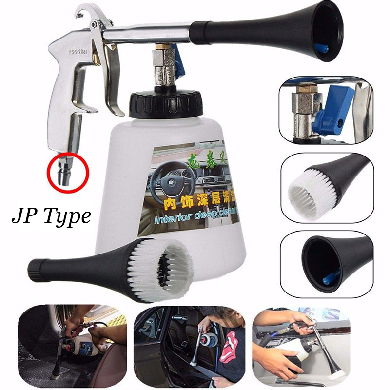 Portable Tornador High Pressure Car Washer For Interior Deep Cleaning Water Gun Home Foam Wash Sprayer Air Operated With Brush