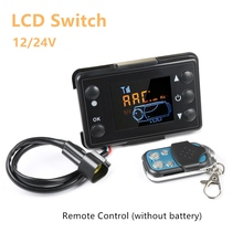 12V/24V LCD Monitor Switch+Remote Control Accessories For Car Track Diesels Air Heater Parking Heater 12v 3kw diesels air parking heater air heating 3000w lcd switch for boats bus car trailer heater silencer remote control