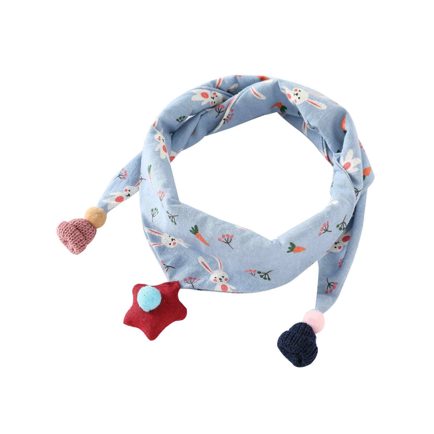 Kids Baby Girl Boys Ring Scarf Bibs Scarves Stars Shawl Cotton Neckerchief Shawl