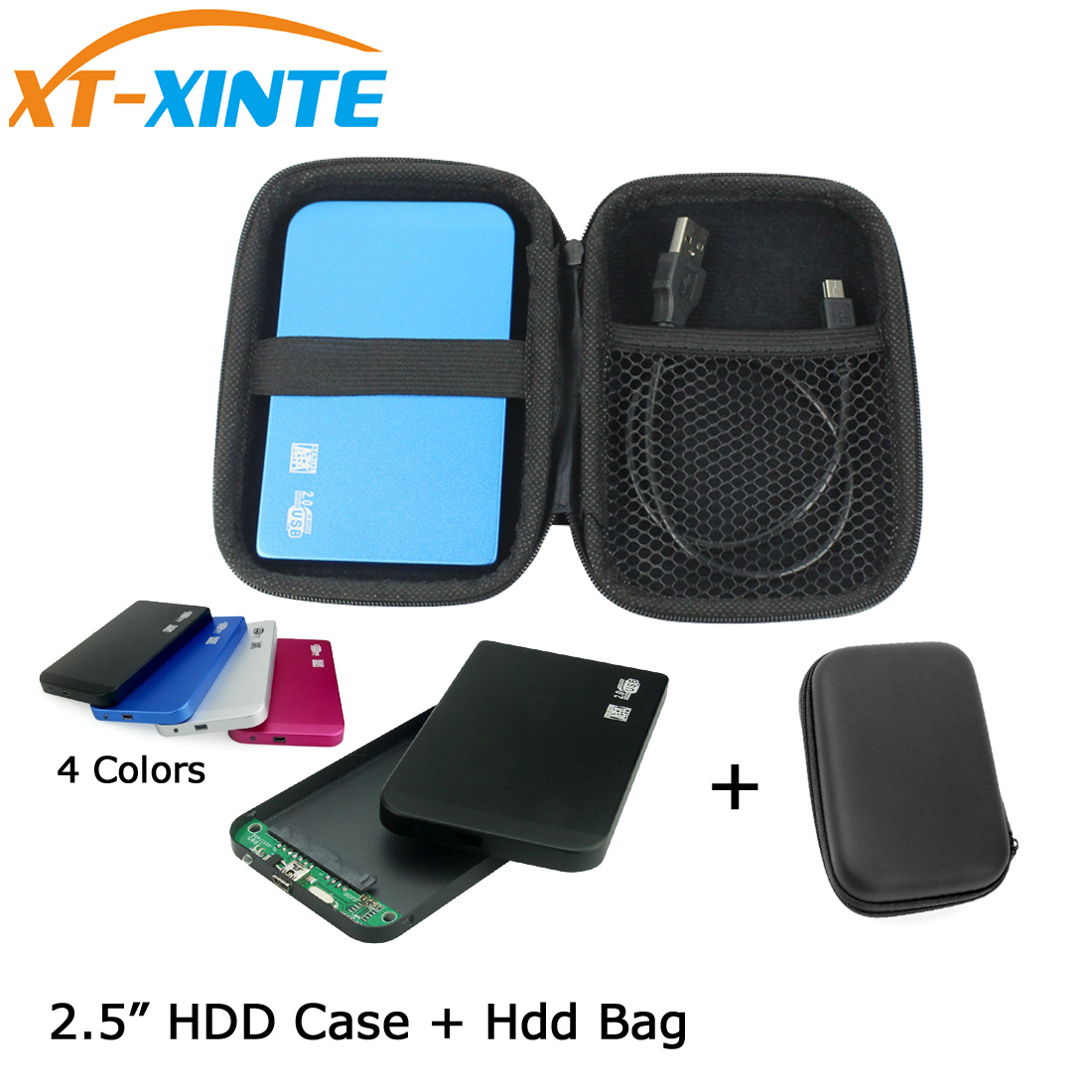 Aluminum SATA To Mini USB 2.0 HDD Case 2.5