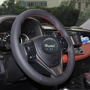 Кожаный Плетеный чехол рулевого колеса автомобиля для Toyota RAV4 2013-2017 Corolla 2014-2017 Auris 2013-2016 Scion iM 2016