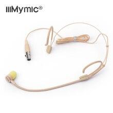 Hoàn Hảo Cho Hát!!!!!! Pro Đơn Hướng Tai Nghe HEADWORN Micro 4 Pin XLR TA4F Condenser Mic Cho Shure Không Dây Bodypack