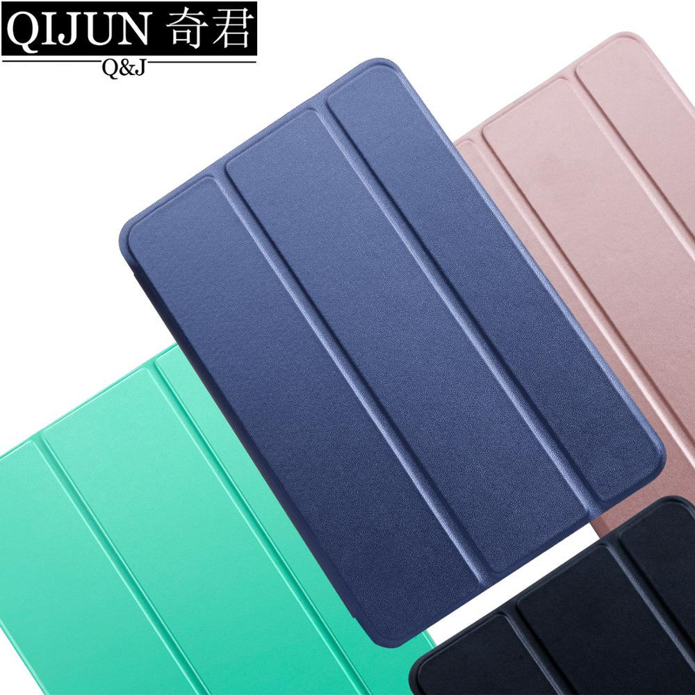 Tablet Case For Apple Ipad 9.7 2018 PU Leather Smart Sleep Wake Funda Trifold Stand Solid Cover Capa Capa For Ipad6 A1893 A1954