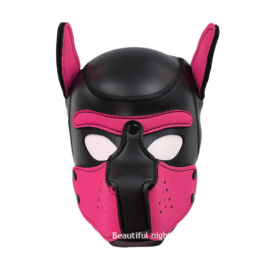 Puppy Play Dog Hood Mask BDSM Bondage Restraint ,Adult Games Hood Mask,Pet Role Play Sex Toys For Couples