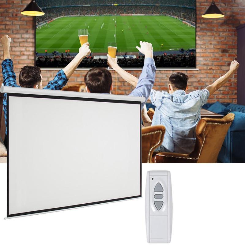92 pouces 16:9 écran de Projection motorisé électrique pliable écran de Projection blanc mat avec télécommande prise US