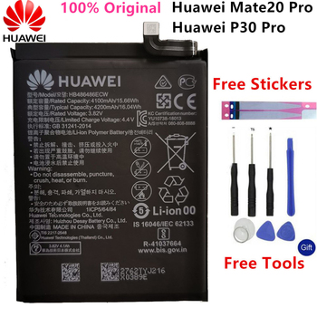 Original Replacement Battery HB486486ECW For Huawei Huawei P30 Pro Mate20 Pro Mate 20 Pro Genuine Phone Battery 4200mAh+Tools