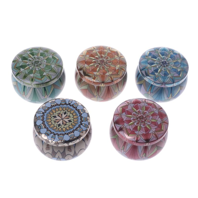 Retro Round Tin Box Jar Tea Candy Jewelry Coin Storage Container Case Candle Sealed Cans Holder Wedding Favor Gift PXPC