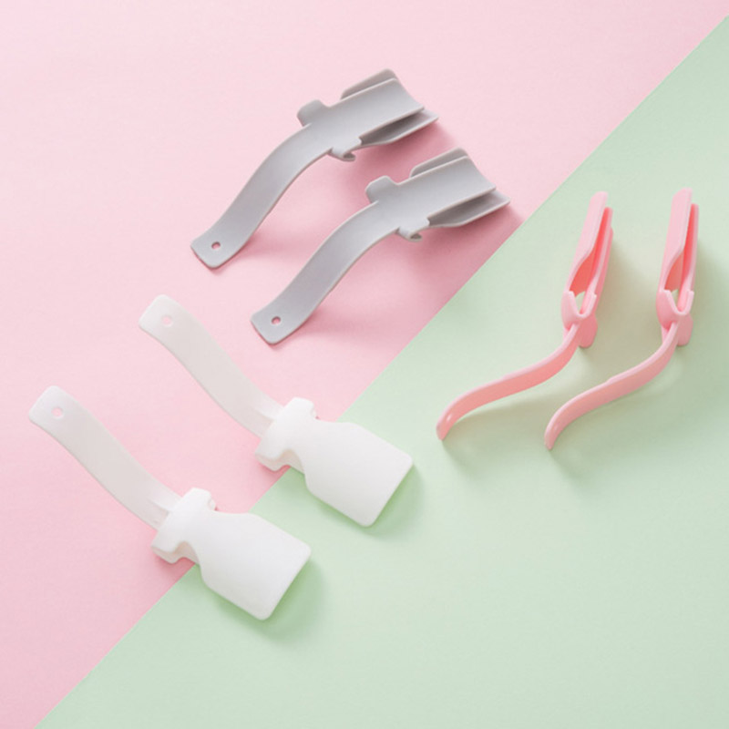 Lazy Shoes Lifter 2PCS Colorful Plastic Shoehorn Shoe Horns Spoon Professional Flexible Shoe Lifter Shoes Accessories