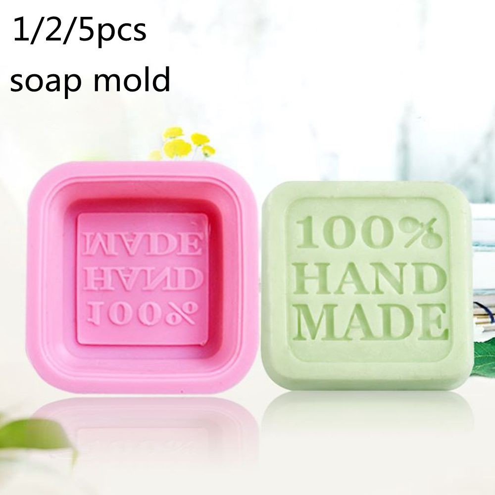 1/2/5pcs Hand Made Round DIY Silicone Mold Soap Mold Form Mould Fondant Cake Decorating Tools Home Kitchen Supplies