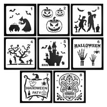8PCS  Halloween Decor Stencils Template for Face Painting DIY Drawing Painting T 24BB