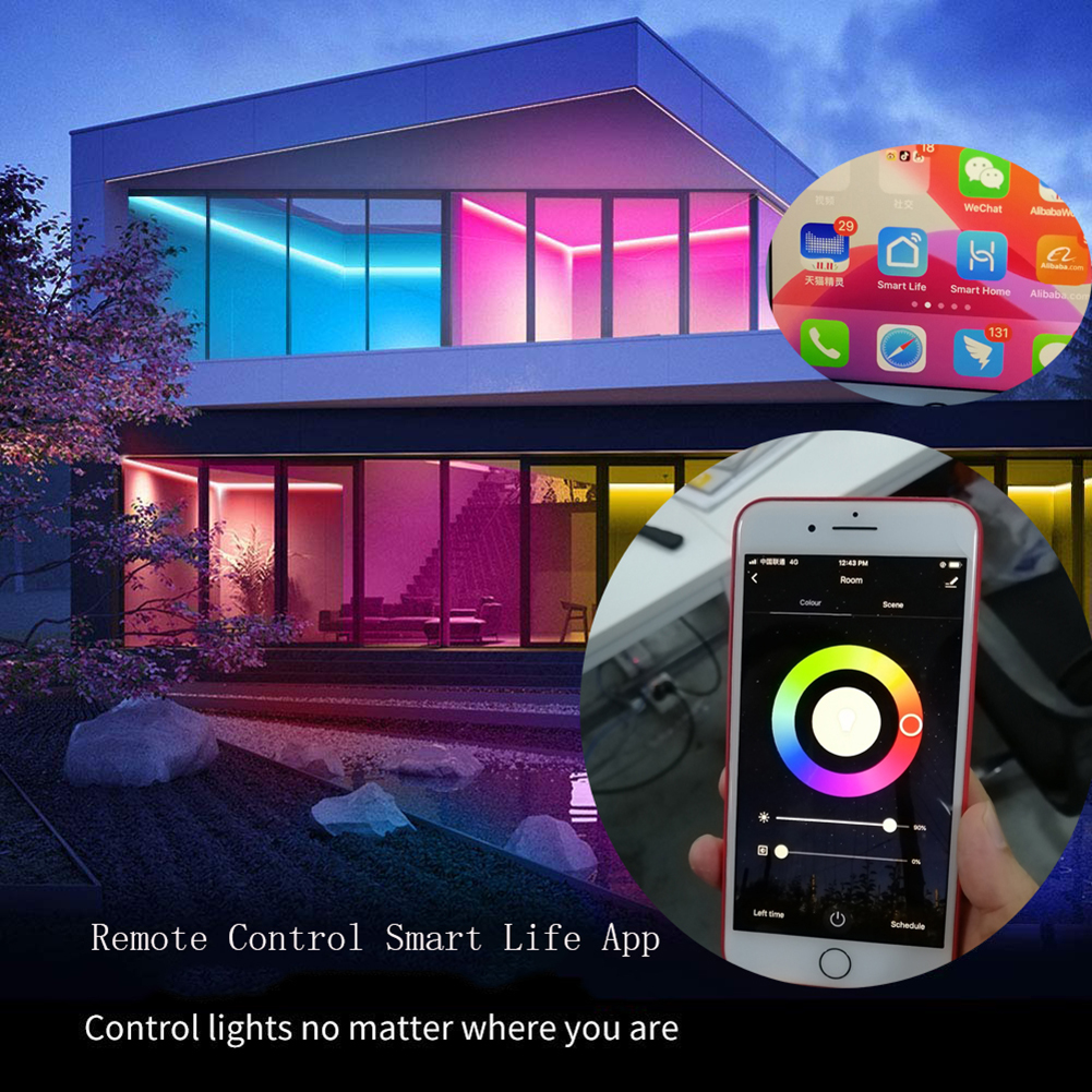 New Smart Wifi Music LED Strip Lights Sync With Music USB TV Backlight Kit With Remote Works For Alexa Google Home 16 Colors