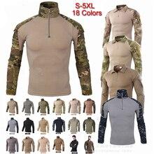 Мужские футболки для кемпинга, спорта на открытом воздухе, топ, Мужская одежда, с длинным рукавом, для охоты, базовые слои, футболка, камуфляж, футболки, рубашки для охоты
