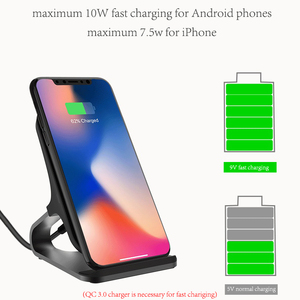 Image 5 - Desktop Wireless Phone Charger Metal Stand Holder for Xiaomi mi9 10W Fast Charge Qi Wireless Charger for Samsung S10 S9 S8 Plus