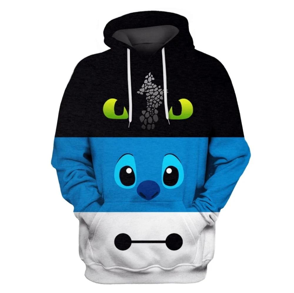 How to Train Your Dragon 3D Print Men Hoodie Sweater Sweatshirt Jacket Pullover