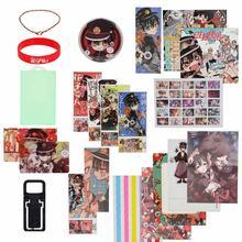 Nova moda anime toalete-bound hanako-kun sorte saco caixa de presente brinquedo incluído cartaz cartão postal pulseira crachá caixa de embalagem presente