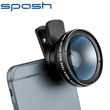 SPASH Phone Lens 2 in 1 Professional HD Lens 12 5X Macro Lens and 0 45X Wide Angle Camera Lens With black lens bag For All Phone cheap CN(Origin) Zoom Len ROUND 2 in 1 lens kits Apple iPhones Blackberry Motorola Nokia Palm Panasonic Samsung Sony-Ericsson
