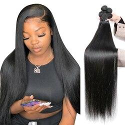 Прямые человеческие волосы CEXXY Bone пряди 30 дюймов, бразильские волосы, пупряди для плетения, натуральные волосы для наращивания, 3 4 пупряди, т...