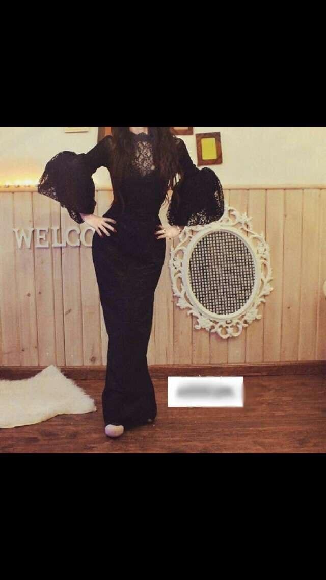 Floor Length Vestido De Festa Longo Side Slit Black Lace Prom Formatura Gown Vestido De Festa Mother Of The Bride Dresses