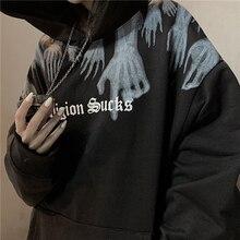 Hoodies 2021 primavera e verão nova com capuz de rua sweatshirts solto coreano feminino casal jaqueta ins maré topo