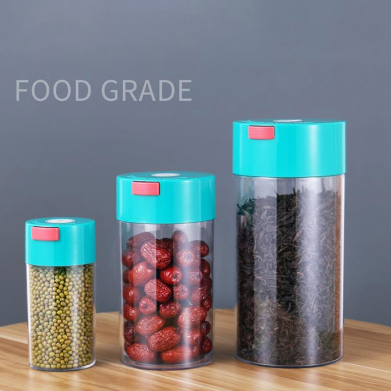 3Pcs Kitchen Food Storage Container Set -Coffee Beans Candy Box Fruit Fresh Saver Grain Transparent Sealed Cans(S,M,L) 1