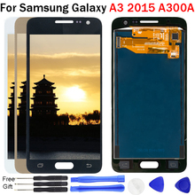 Adjust brightness LCD For Samsung Galaxy A3 2015 A300 A300F A300M A300FU Display Touch Screen Assembly 100% Tested TFT