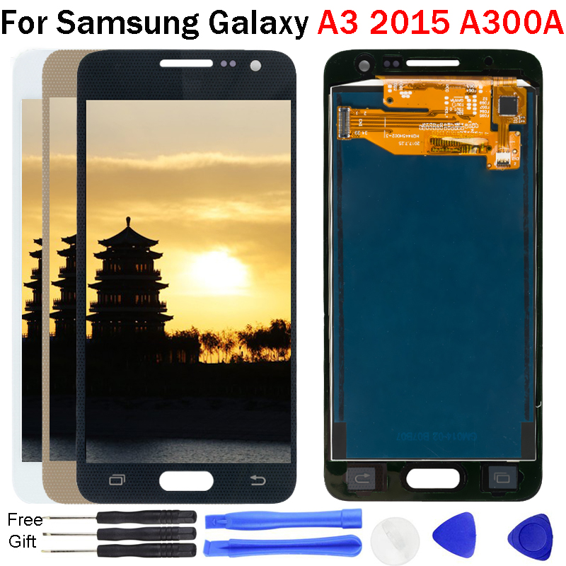 For <font><b>Samsung</b></font> Galaxy A3 2015 <font><b>A300</b></font> A300F A300H <font><b>LCD</b></font> Display Touch Screen Digitizer Tested <font><b>LCD</b></font> Replacement Assembly for A3 2015 <font><b>A300</b></font> image