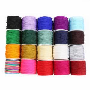 Colour 50m 0.8mm Nylon Cord Thread Chinese Knot Macrame Cord Bracelet Braided String DIY Tassels Jewelry Cord String Thread(China)