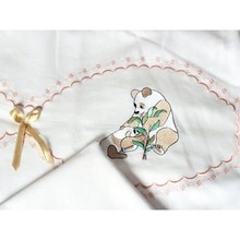 The Teddy Bears Embroidered baby duvet cover set