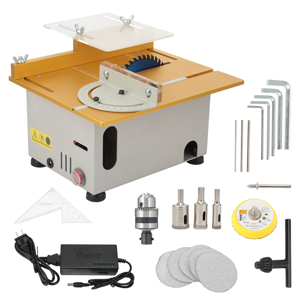 T6 Multifunctional Mini Table Saw Electric Woodworking Bench Lathe For DIY Polishing Grinding Drilling Table Saw Machinery Set