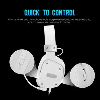 SADES Gaming Headset Snowolf 3.5mm Jack For PC/laptop/PS4/Xbox One (2015 Version)/Nintendo Switch/VR/Mobile 4