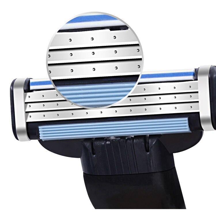 4pcs Razor Blades Compatible For Mache 3 Machine Shaving Razor Blade